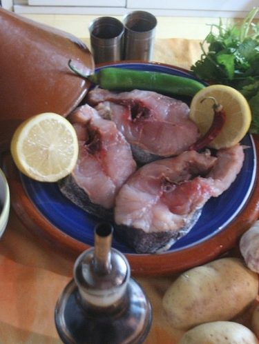 Ingrédients pour le tajine de poisson