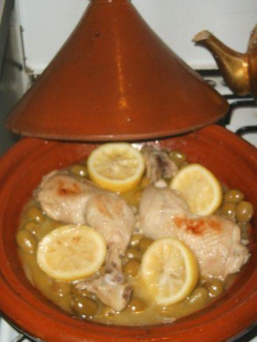 recette du tajine de poulet aux olives
