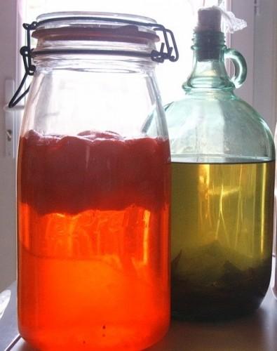verveine en liqueur et liqueur de fraises tagada fait maison