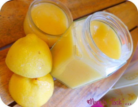 Lemon curd (sans beurre)