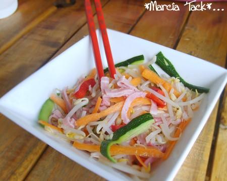 salade soja et légumes