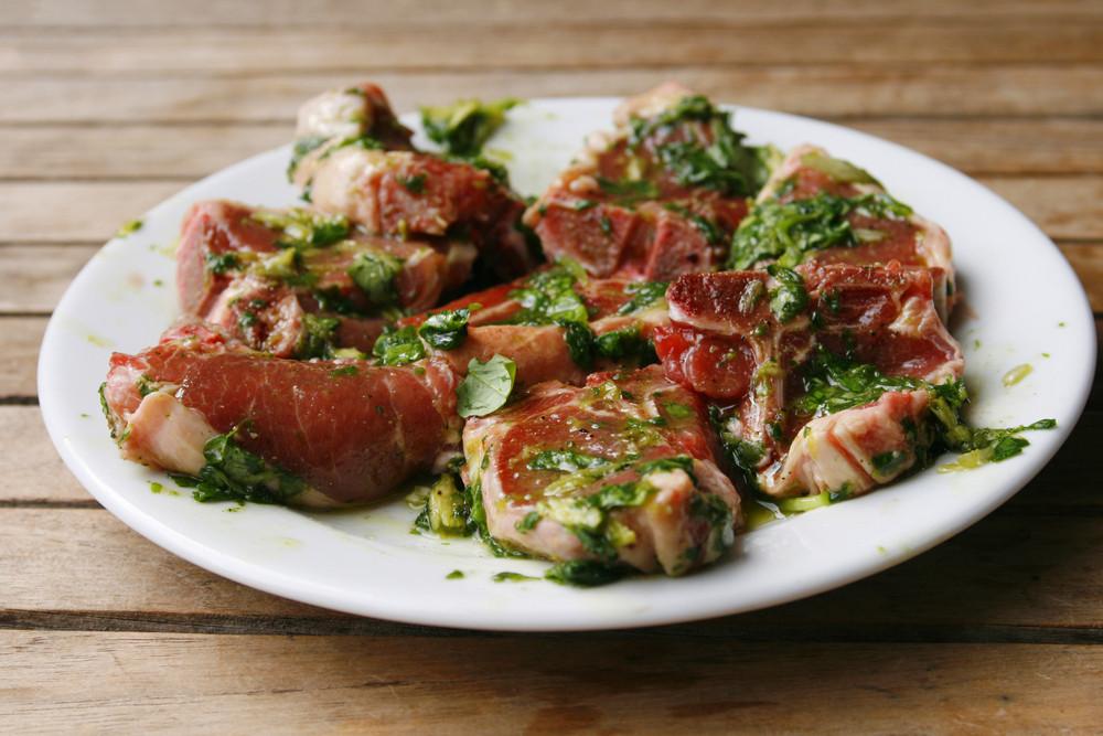 Marinade la pistache pour c te d agneau recettes de - Comment faire une marinade ...
