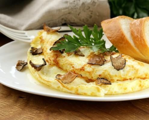 Recette de l'omelette aux truffes