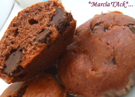 Muffins choco-nutella qui ne manquent pas d'air