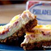 Recette du cheesecake au fromage philadelphia et aux framboises