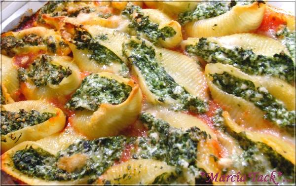Recettes des pâtes conchigliones farcies épinards et ricotta