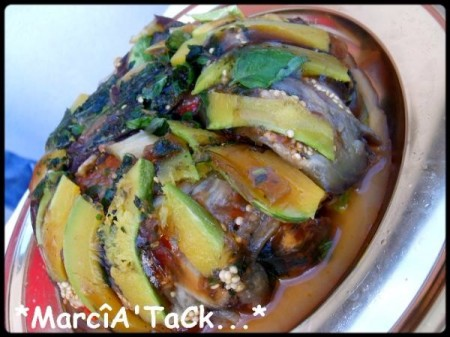Couronne de légumes au pistou en ratatouille