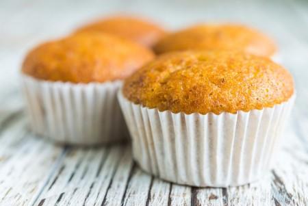 des muffins oranges