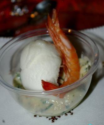 Recette de capuccino crevette et sorbet citron vert