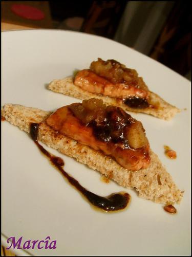 canap s de foie gras caram lis recette marcia 39 tack