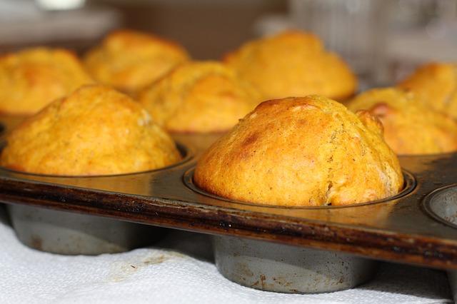 Muffins au coeur coulant de chocolat blanc