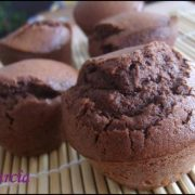 des muffins au chocolat noir