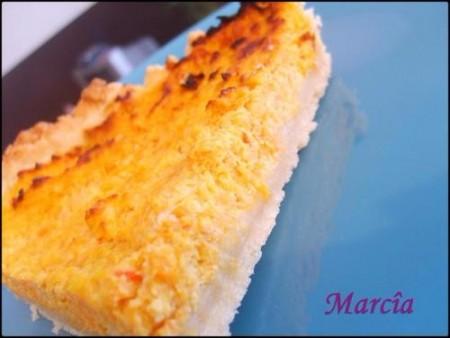 une part de tarte carotte et ricotta