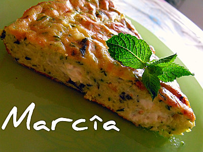 clafoutis de courgettes f ta parfum menthe recette marcia 39 tack. Black Bedroom Furniture Sets. Home Design Ideas