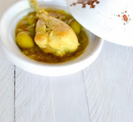 Recetet du tajine de poulet au citron
