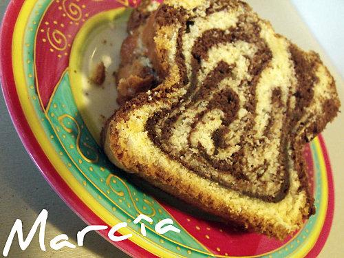 cake marbré au chocolat moelleux