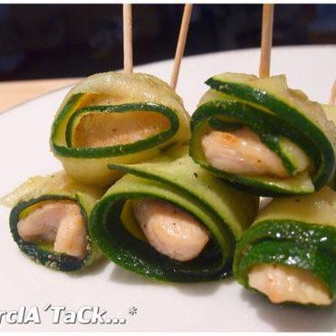 Recette maki de poulet aux courgettes