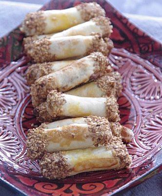 Recette de biscuits cigare aux amandes