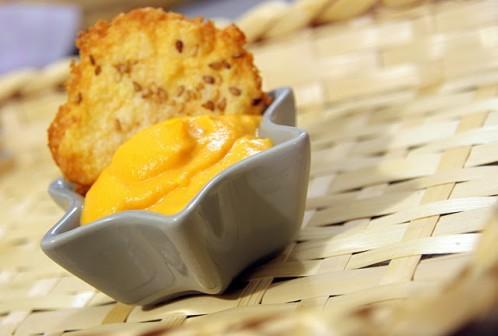 Mousse+carotte+tuile+parmesan+recette+marcia