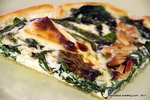 tarte épinards frais & vache qui rit- recette- marcia tack