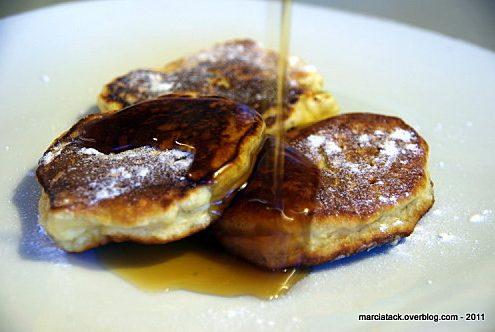 Pancakes à la pomme râpée