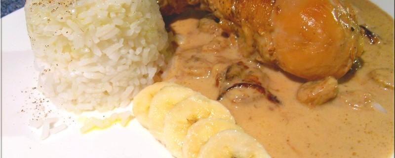 Recette de poulet coco et bananes