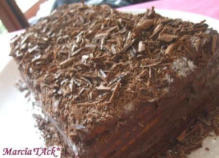"""Gâteau aux """"thé brun"""", chocolat café"""
