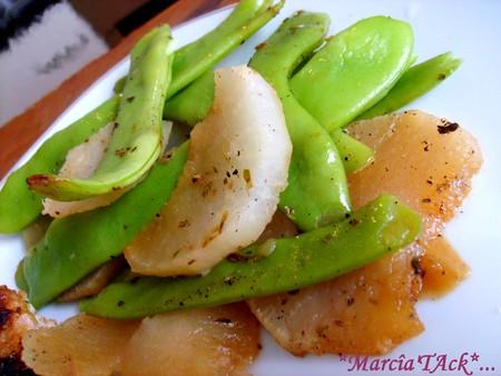 recette+pois gourmands+navets+printemps+thym+cuisine