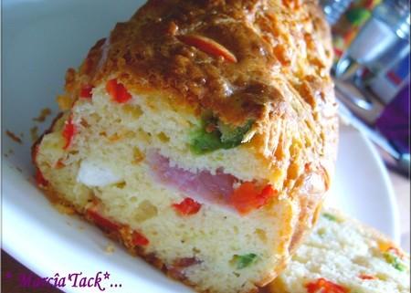 Cake salé poivron jambon