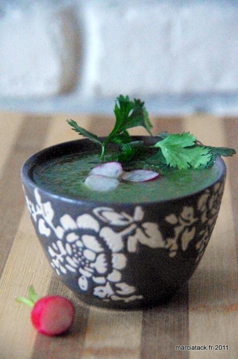 recette+soupe+fane+radis+coriandre+cuisine+economique
