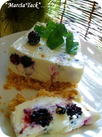 Cheesecake frais aux mûres