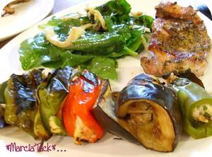 Brochettes de légumes à la ricotta