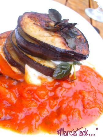 recette de millefeuille d'aubergines et mozzarella