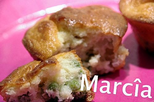 muffins chèvre petits pois