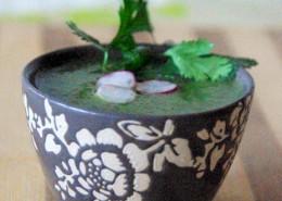soupe de fane de radis