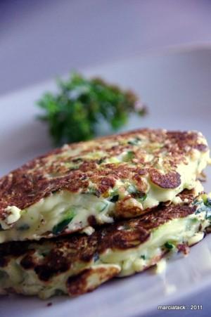 des pancakes de courgettes