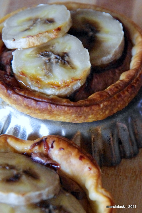 recette Mini tartelettes nutella bananes