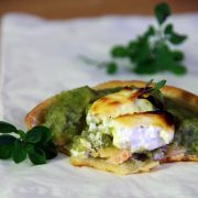 Tartelette brocolis saumon chèvre