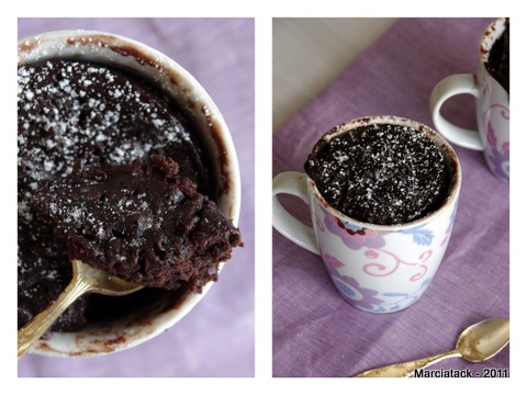 chocolate cake mug