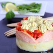 Recette de parmentier de saumon, poivrons rouges et boursin cuisine Thaï
