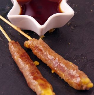 Recette de yakitori, brochette boeuf fromage fondant