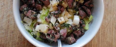 Salade d'endives, comté et foie de volailles