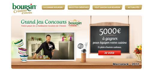 Concours boursin cuisine 5000 euros gagner marcia 39 tack for Cuisine 5000 euros