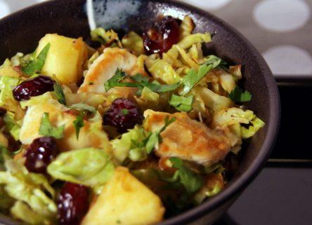 Po l e de choux de bruxelles poulet cranberries recette - Comment cuisiner des choux de bruxelles en boite ...