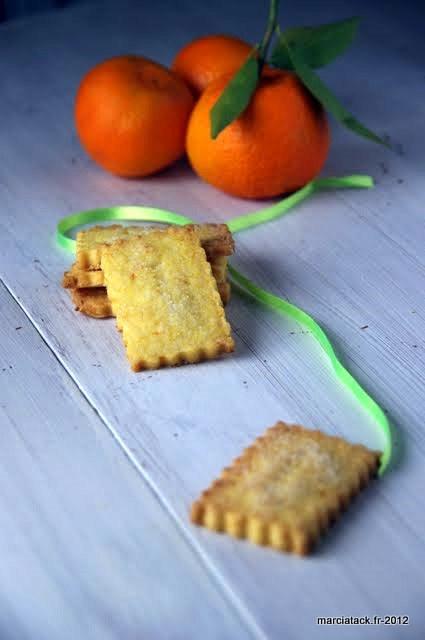 Recette de biscuits à la clémentine, les shortbread