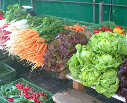 Fruits et légumes marchés
