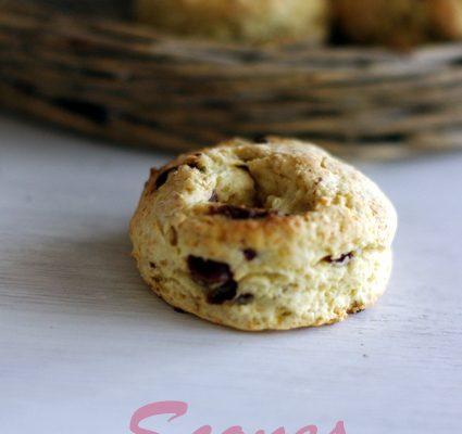 recette de scones aux pépites de chocolat