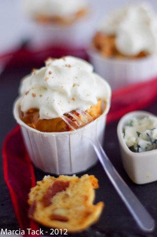Cupcake chorizo roquefort