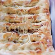 recette de fougasse rapide aux lardons