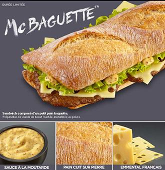 J'ai testé le Mc Baguette ...